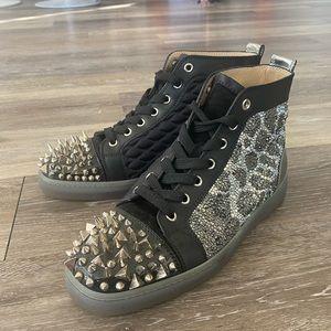 Christian Louboutin StrassNoLimitSpikeToeSneakers